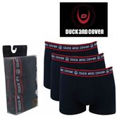 3 MENS DUCK AND COVER BOXERSHORTS / TRUNKS NAVY