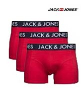 3 MENS JACK & JONES BOXERSHORTS / TRUNKS TANNER FLAME SCARLET