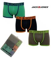 3 MENS JACK & JONES BOXERSHORTS / TRUNKS DRESS BLUES