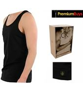 2 PACK MENS CALVIN KLEIN TANK TOPS BLACK