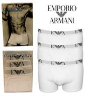 3 MENS EMPORIO ARMANI BOXERSHORTS / TRUNKS WHITE