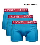 3 MENS JACK & JONES BOXERSHORTS / TRUNKS TANNER DIRECTOIRE BLUE
