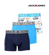 3 MENS JACK & JONES BOXERSHORTS / TRUNKS ACTION DRESS BLUE