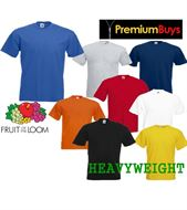 1 MENS FRUIT OF THE LOOM HEAVY COTTON T SHIRT, CHOOSE FROM 8 COLOURS