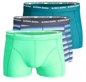 BJORN BORG MENS 3 PACK BOXERS / TRUNKS  Blue stripe