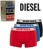 3 MENS DIESEL BOXERSHORTS / TRUNKS RED ROYAL BLACK