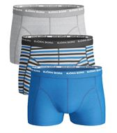 BJORN BORG MENS 3 PACK BOXERS / TRUNKS  Black stripe