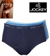 3 MENS JOCKEY CLASSIC COTTON BRIEFS BLUE PACK