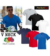 1 MENS FRUIT OF THE LOOM V NECK SHORT SLEEVE T SHIRT, SIZES M-XXL