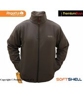 MENS REGATTA  BRADWELL WATER REPELLENT SOFTSHELL JACKET IRON