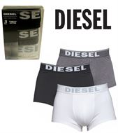 3 MENS DIESEL BOXERSHORTS / TRUNKS BLACK WHITE GREY