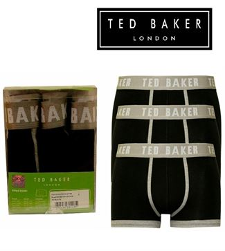 3 MENS TED BAKER BOXERSHORTS / TRUNKS BLACK